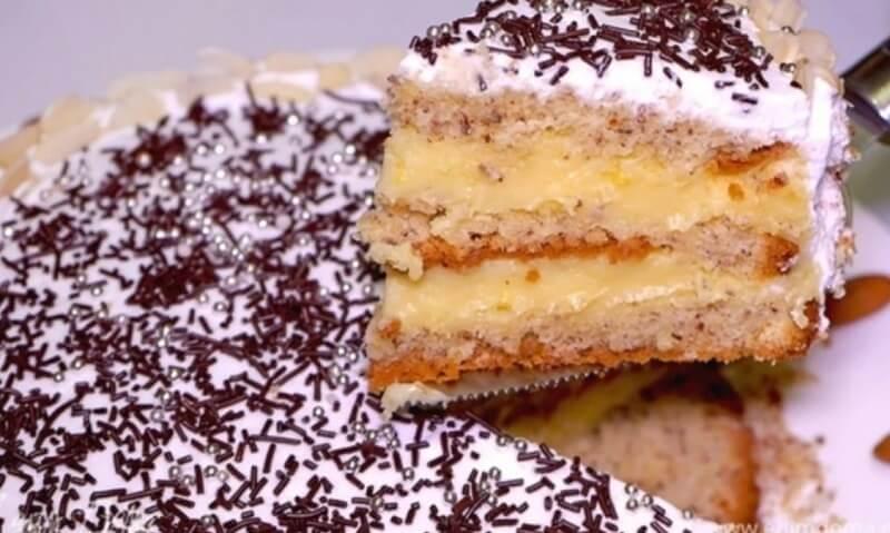 Вкусный, праздничный торт «Высокий»