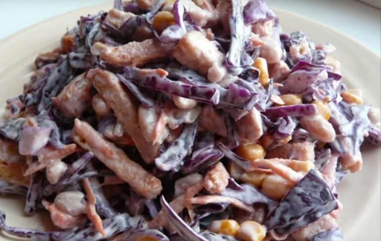 Вкусный салат быстрого приготовления «Хрустящий»