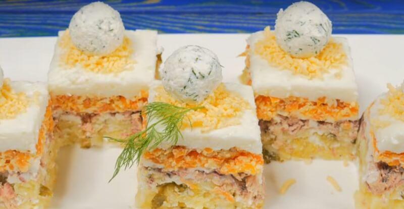 Закуска «Снежки» — прекрасное блюдо к праздничному столу