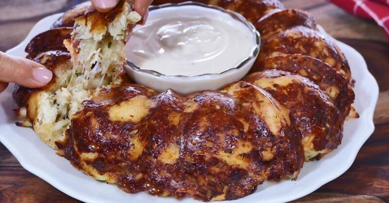 Закусочный пирог с куриным филе