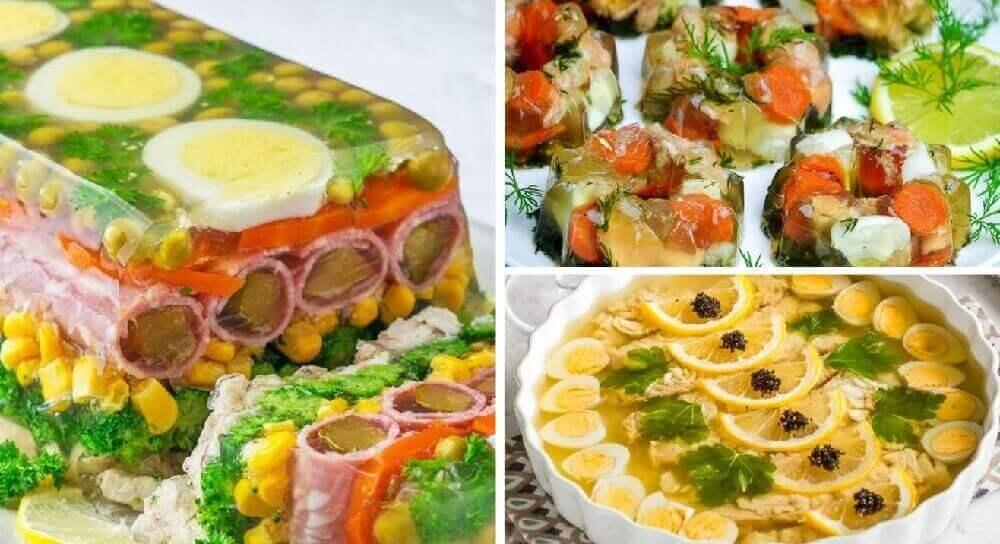 Вкусное заливное: рыбное, из курицы, с желатином, овощами: ТОП-12 рецептов на выбор!
