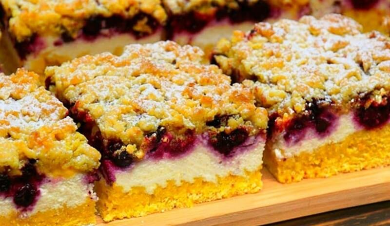 Замечательный рецепт изумительного творожно-ягодного пирожного