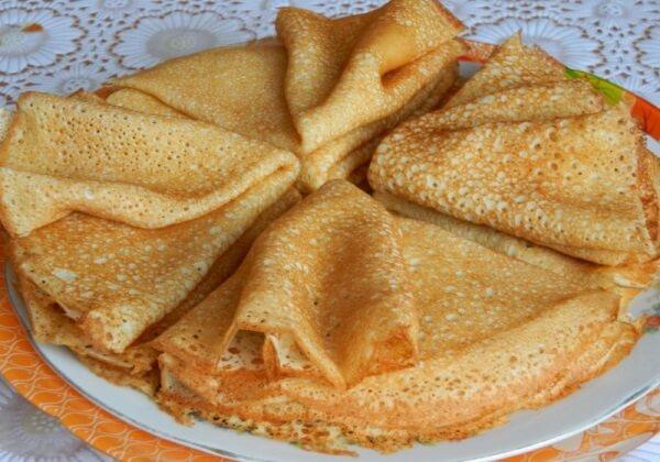 Вкусные заварные блины для завтрака