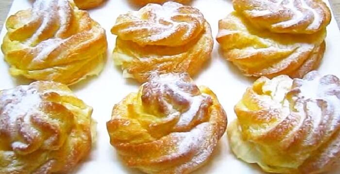 Заварные пирожные с воздушным кремом