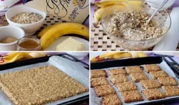Банановое печенье без муки за 15 минут!