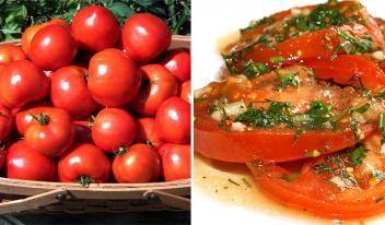 Быстрые маринованные помидоры по-итальянски за полчаса!