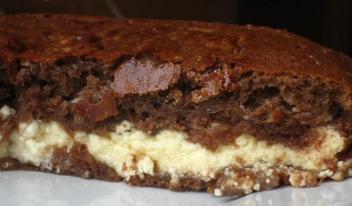 Быстрый рецепт домашнего торта на кефире с творожным кремом