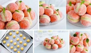 Домашнее пирожное «Персики» с нежнейшей начинкой. Очень простой и легкий рецепт!