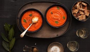 Итальянский томатный суп с чиаббатой