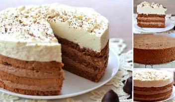 Изумительный шоколадный торт «Кофе со сливками» - пошаговый рецепт
