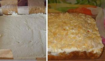 Как приготовить нежнейший пирог «Юлькин» с персиками и грушей