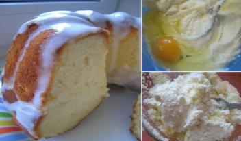 Как приготовить нежный творожный кекс