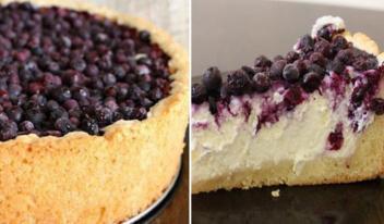 Как приготовить нежный творожный пирог с ягодами