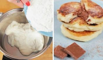 Как приготовить очень вкусные  домашние сырники с шоколадом