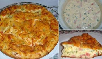 Как приготовить оригинальный сытный пирог к завтраку