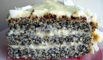 Как приготовить пирог с маком «Блаженство»
