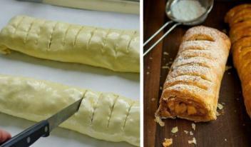 Как приготовить простой и самый вкусный яблочный штрудель