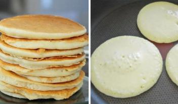 Как приготовить вкусные и пышные панкейки на молоке