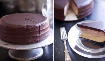 Как приготовить восхитительный двухслойный чизкейк в шоколадной глазури