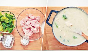 Куриный крем-суп с брокколи