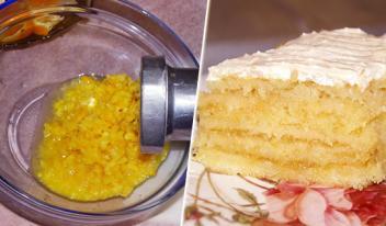 Простой и очень вкусный домашний лимонный торт