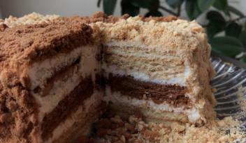 Любимый торт «Сметанник» на скорую руку без выпечки