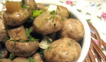 Маринованные грибы: быстро и вкусно