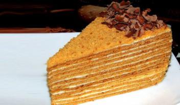 Медовый торт «Особенный»: пошаговый рецепт приготовления