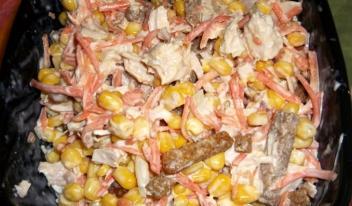 Настоящая палочка-выручалочка для всех хозяек - питательный салат «Карусель»!