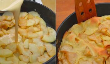 Немецкий яблочный панкейк – сочный и безумно вкусный!