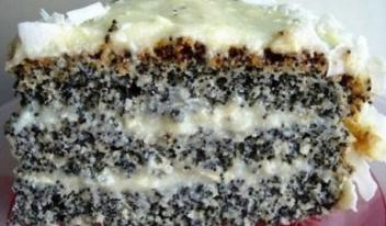 Необычный маковый торт «Блаженство»: пошаговый рецепт