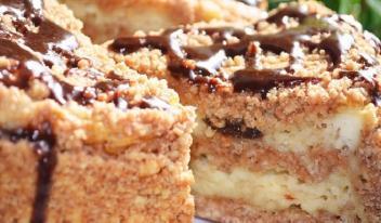 Нежнейшая выпечка: пирог с творогом и черносливом