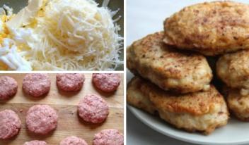 Нежные куриные котлетки «Птичье молоко» с сыром