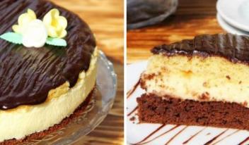 Нежный и потрясающе вкусный торт «Птичье молоко» с манкой и лимоном