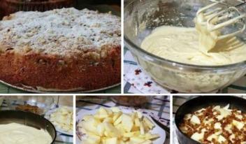 Обалденный яблочный пирог «Домашний» - пирог получается очень вкусный!