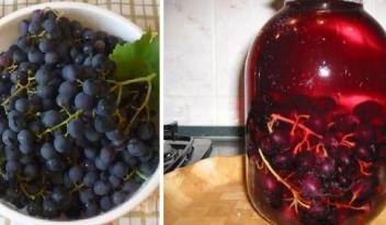 Красивый и вкусный компот из винограда на зиму: пошаговый рецепт