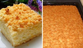 Очень нежный и вкусный тертый пирог с творогом