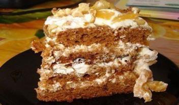 Очень простой и вкусный торт на кефире с вареньем
