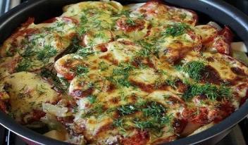 Готовим вкусные молодые кабачки, запеченные с сыром под соусом!