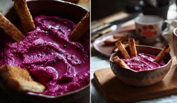 Как приготовить идеальный вкусный свекольный хумус из нута и свеклы