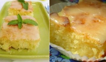 Оригинальный лимонный пирог с помадкой
