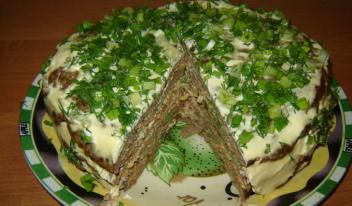 Печеночный торт. Самый вкусный рецепт приготовления!