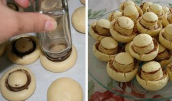 Песочное печенье «Шампиньоны»: пошаговый рецепт