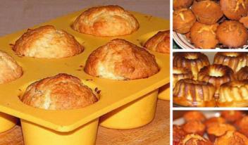 Пошаговый рецепт приготовления нежных творожных кексов