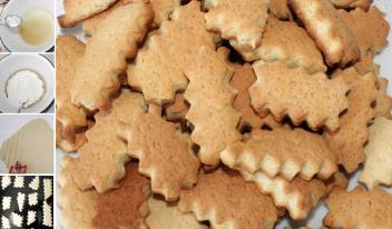Постное домашнее печенье на огуречном рассоле
