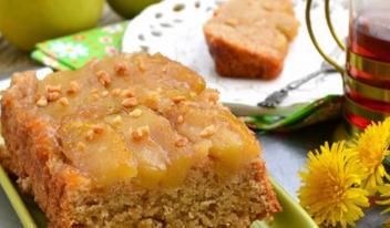 Постный яблочный пирог Тарт татен с корицей или «пирог-перевертыш»