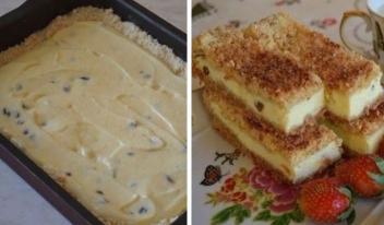 Потрясающий песочный пирог с нежным творогом