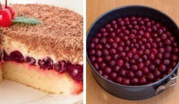 Потрясающий вишневый пирог «Наслаждение»: пошаговый рецепт