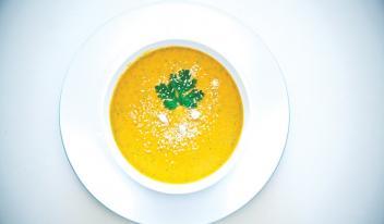 Пряный крем-суп из тыквы с имбирём