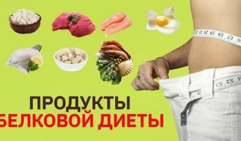 Продукты, которые нужно употреблять в пищу при соблюдении белковой диеты